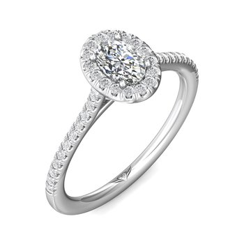 14kt Wh Oval Cut Diamond.50ct with Halo #030405