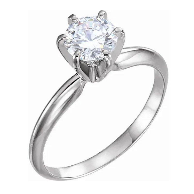 King's Bridal Diamond Engagement Ring 2.01ct Round Brilliant