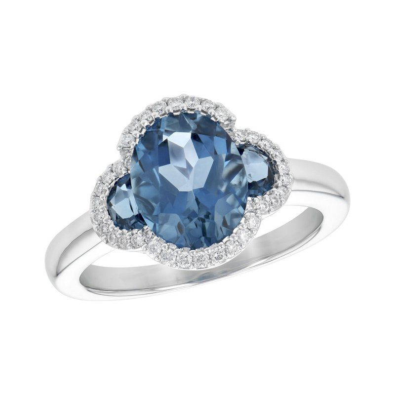 King's London Blue Topaz and Diamond Ring