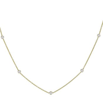 Diamond-by-the-Yard Necklace .50tw