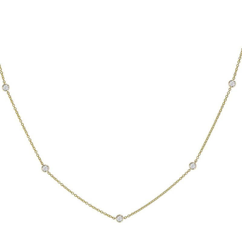 King's Diamond-by-the-Yard Necklace .50tw