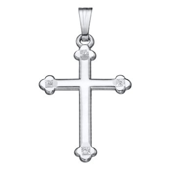 Sterling Cross w/Rollo Chain 18""