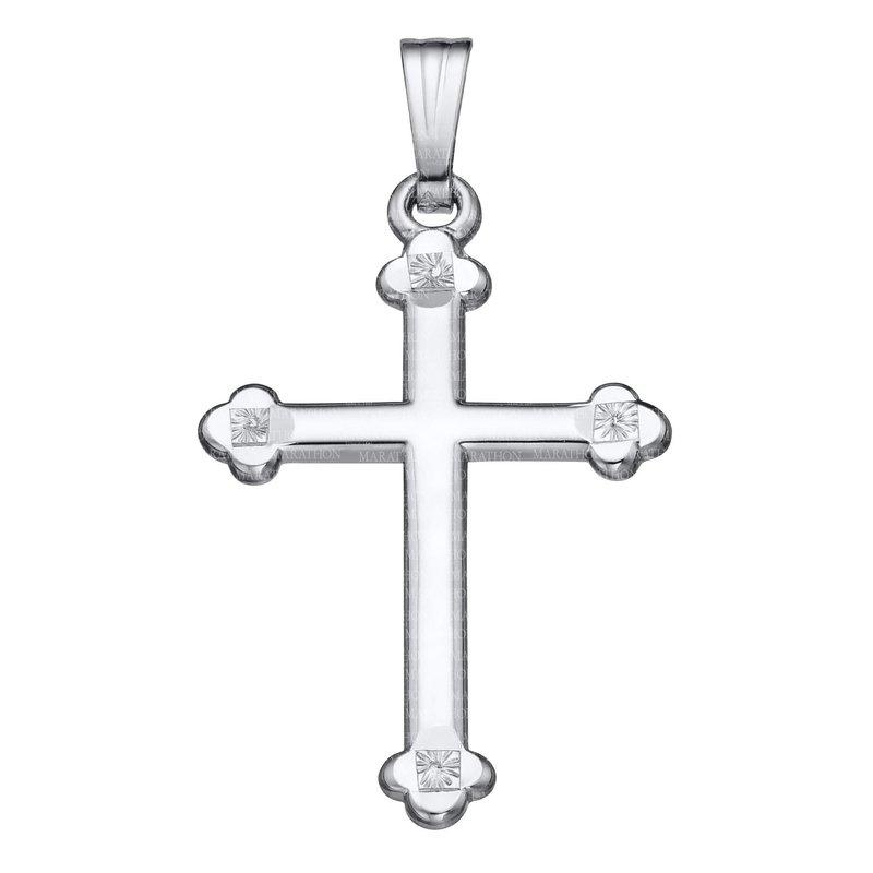 "King's Children Sterling Cross w/Rollo Chain 18"""