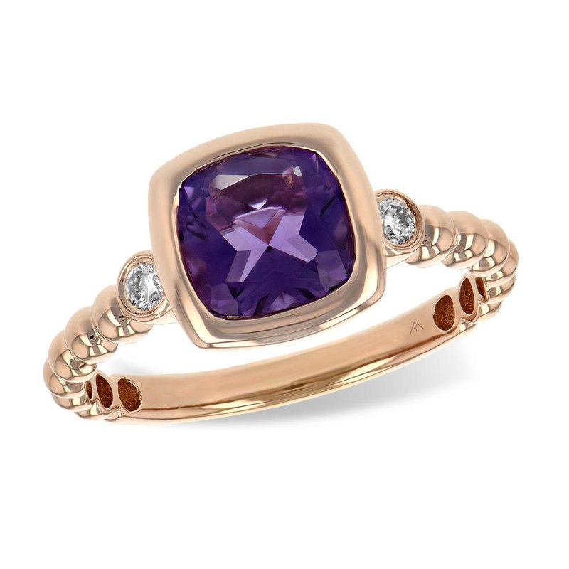 King's Amethyst and Diamond Ring