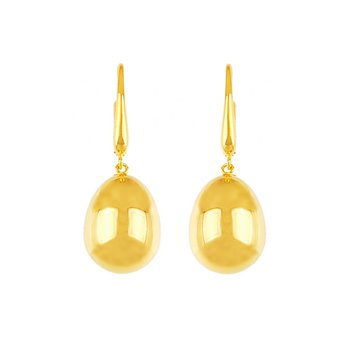 Gold One Drop Earrings w/French Wires