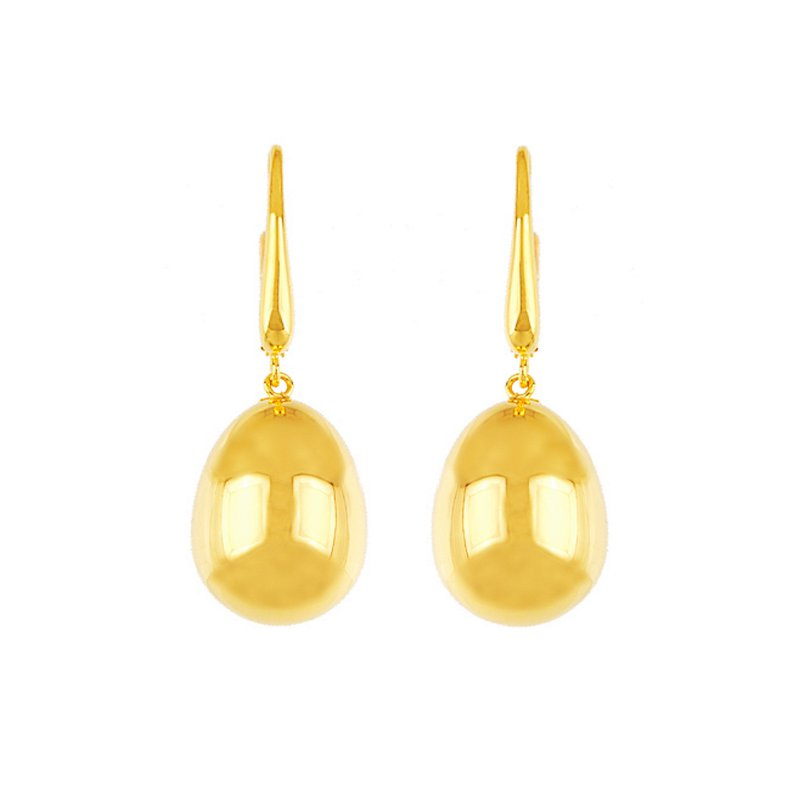 King's Gold One Drop Earrings w/French Wires