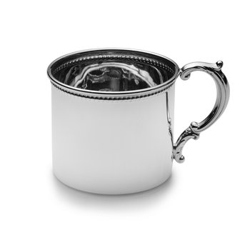Baby Cup Beaded  Sterling
