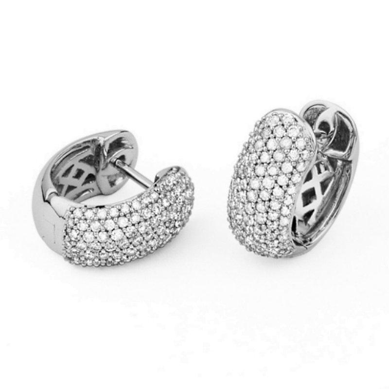 King's Gold Diamond Hoop Earrings Huggies