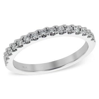 14kt Wh Diamond Band 15 Diams=.26tw  #050856