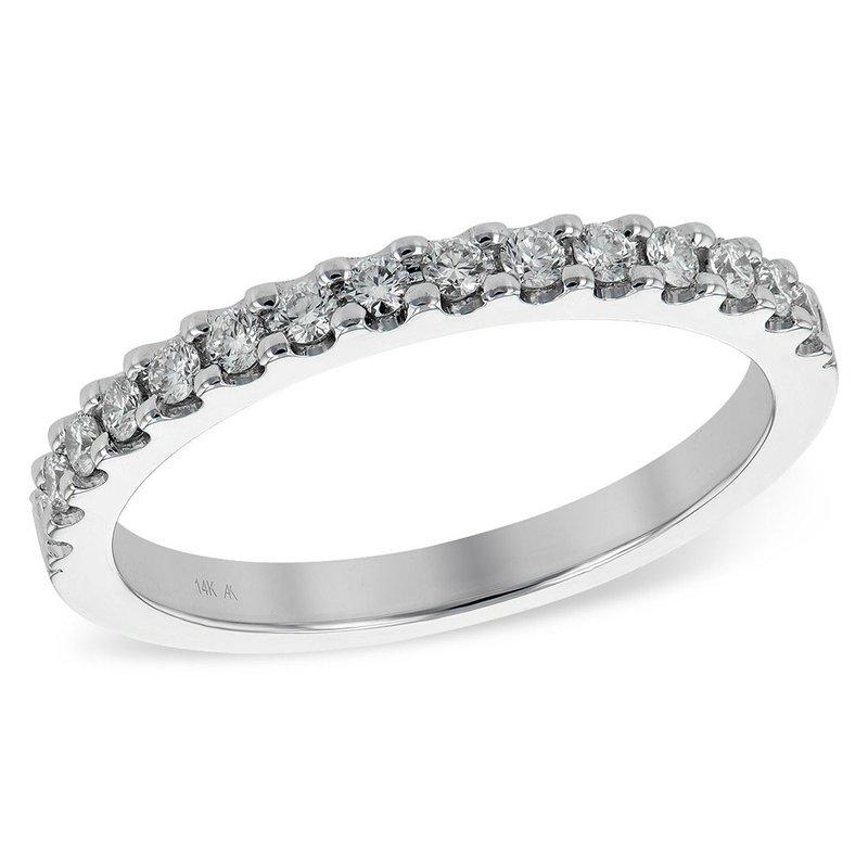 King's 14kt Wh Diamond Band 15 Diams=.26tw  #050856