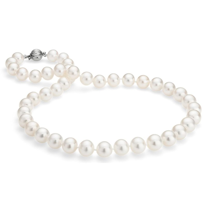 """King's Freshwater Pearl Strand 7 1/2mm x 7mm 18"""""""