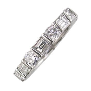 Round & Baguette Diamond Eternity Band 3.16tw   #040142
