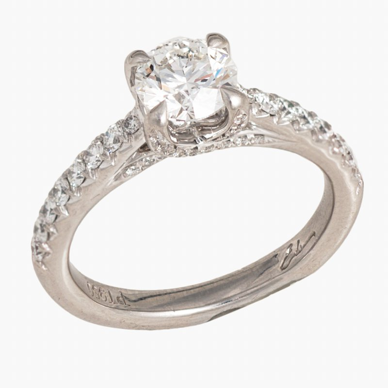 King's Bridal Diamond Engagement Ring Plat 1.49tw