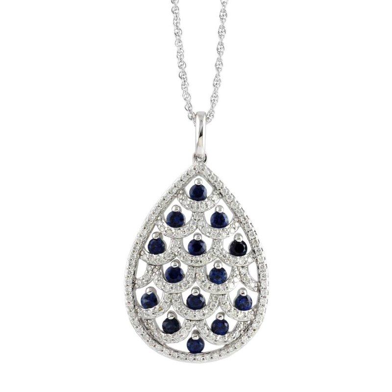 King's Sapphire and Diamond Pendant