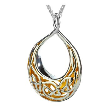 """Window to the Soul"" Sterling & 22kt Gilded Pendant"