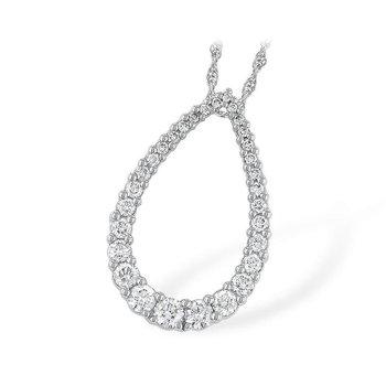 Teardrop Diamond Pendant  1.00 tw
