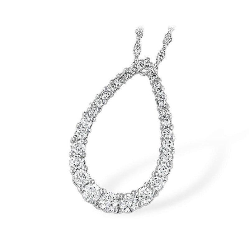 King's Teardrop Diamond Pendant  1.00 tw