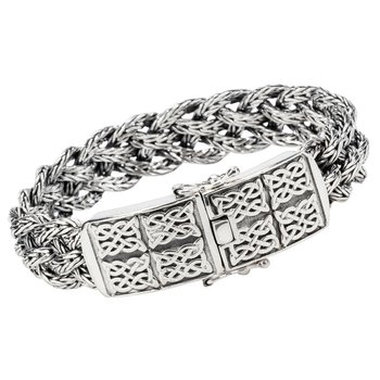"""Forge Dragon Weave"" 8"" Sterling Bracelet"