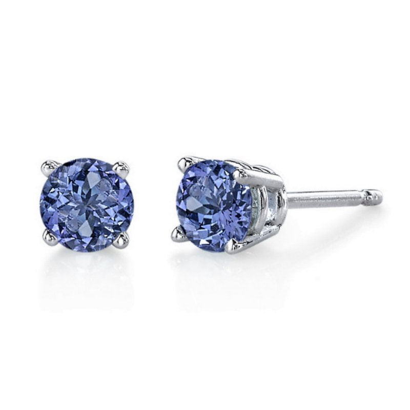 King's Tanzanite Stud Earrings