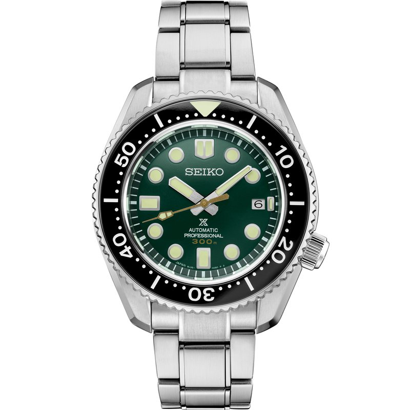 Seiko Luxe Prospex Automatic Divers Watch Green Dial SLA047