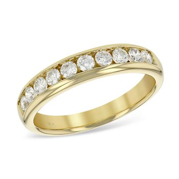 Channel Set Diamond Band .50tw  #050030