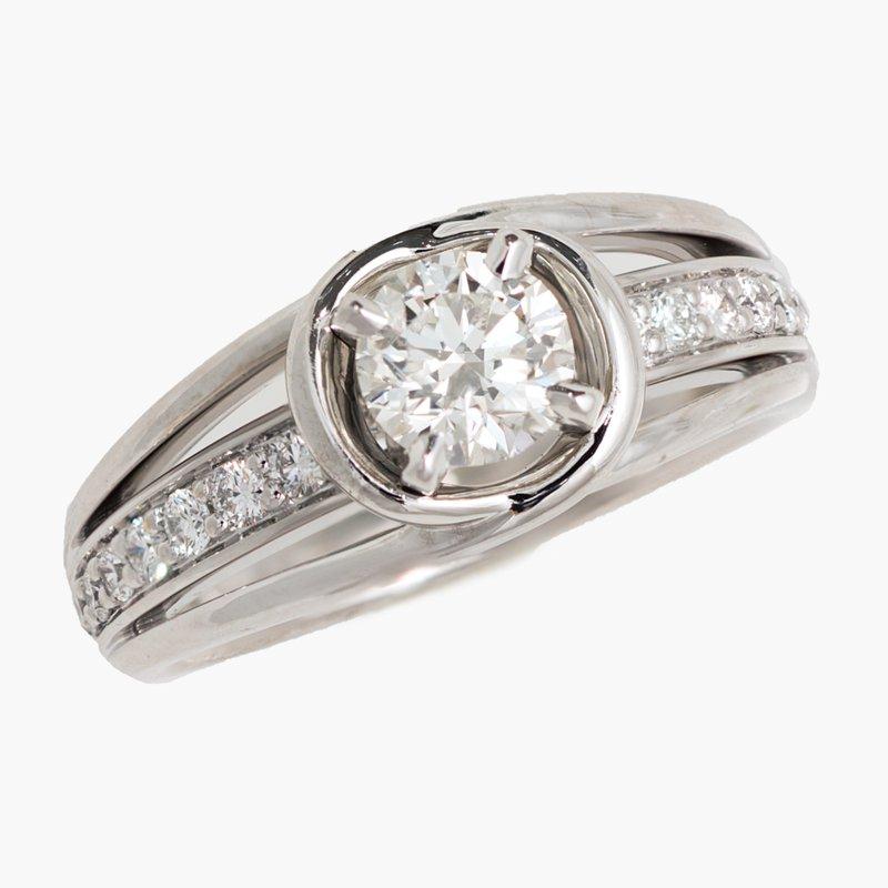 King's Bridal Diamond Engagement Ring .75ct