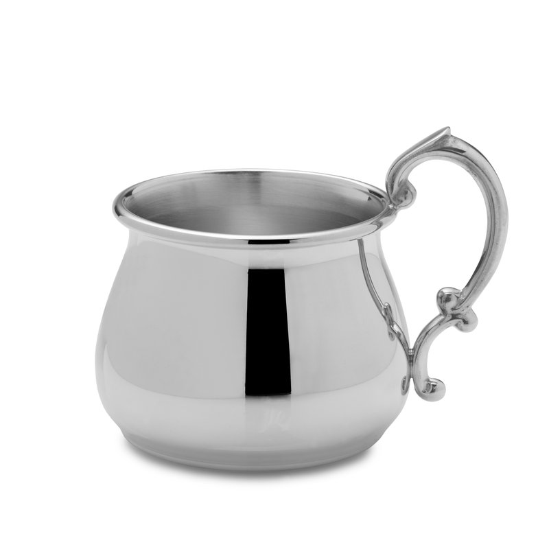 Lifetime Brands Baby Cup Pot Belly Pewter