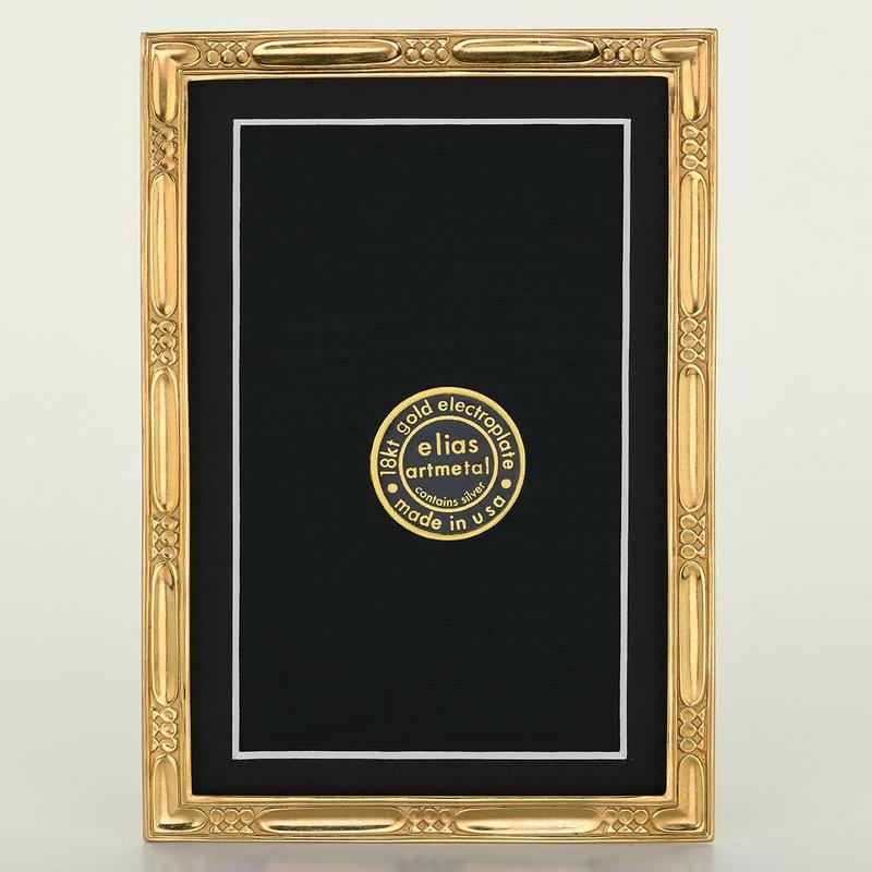 Elias Artmetal Elias Frame 4x6 Lakeside Gold