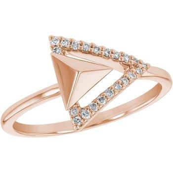 Rose Gold & Diamond Arrow Ring