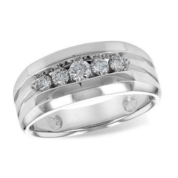 Men's Diamond Wedding Band .42tw   #030233