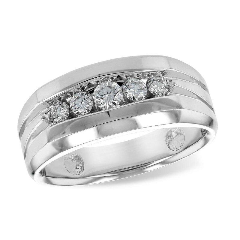 King's Bridal Men's Diamond Wedding Band .42tw   #030233