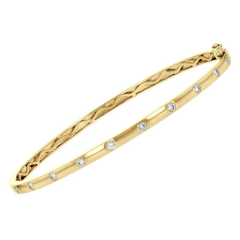 King's Bangle Bracelet with Diamonds Bezel Set