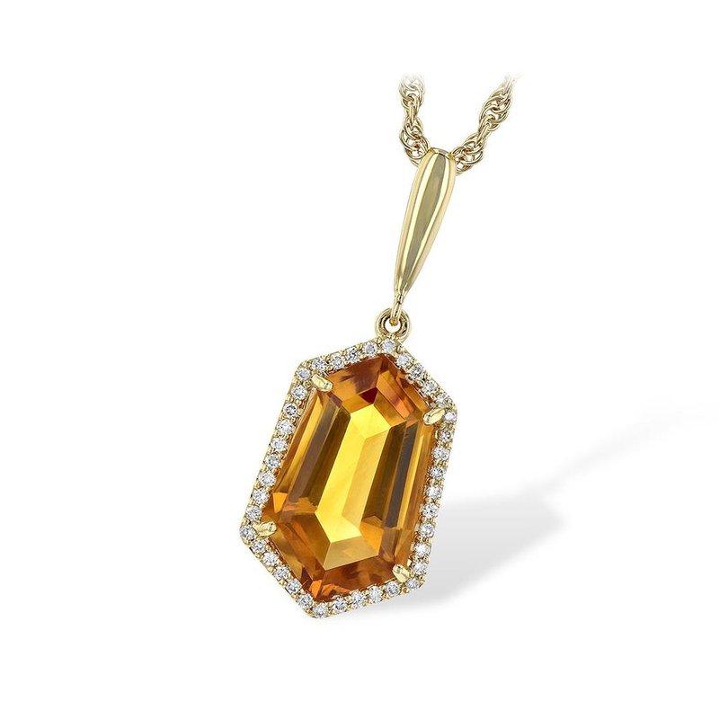 King's Citrine and Diamond Pendant