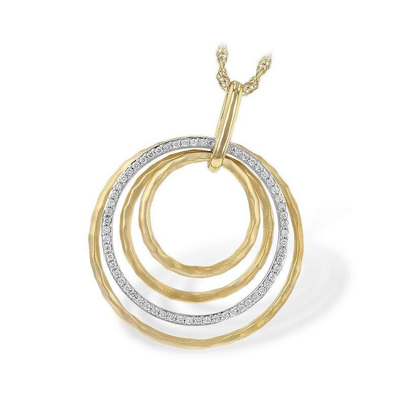 King's Concentric Circles Diamond Pendant