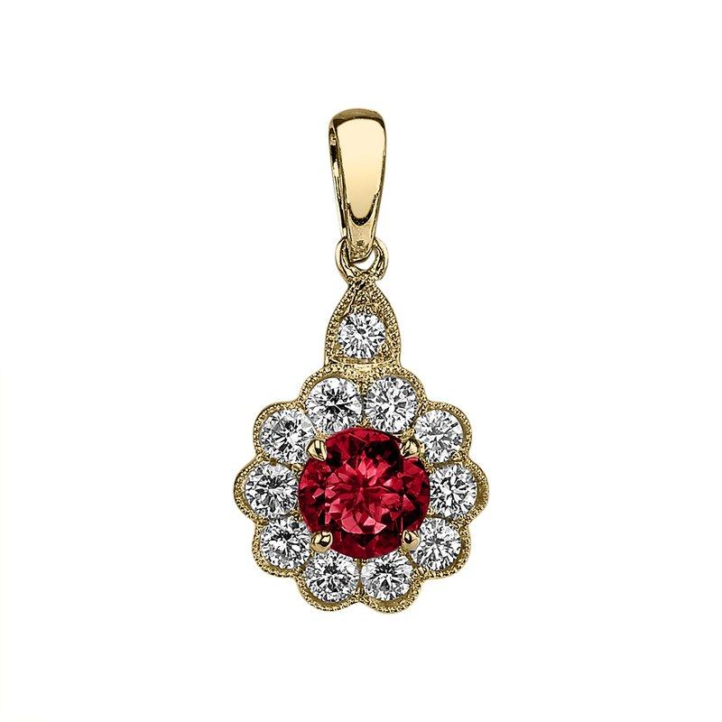 King's Ruby and Diamond Pendant