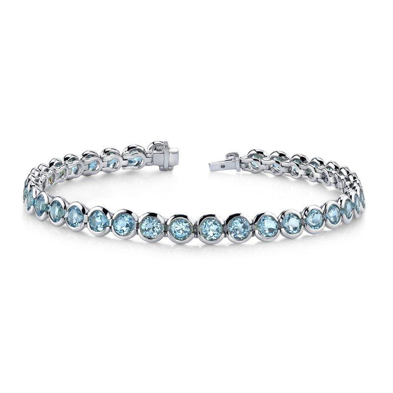 King's Blue Topaz Bezel Set Bracelet