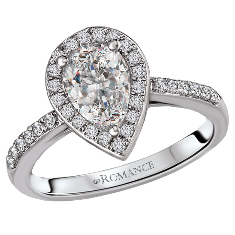 King's Bridal Diamond Halo Engagement Ring .83ct Pear Shape  #020217