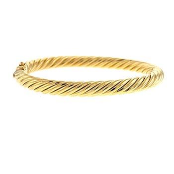 14kt Yel Twisted Bangle Bracelet