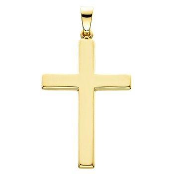 14kt Yel Gold Polished Cross