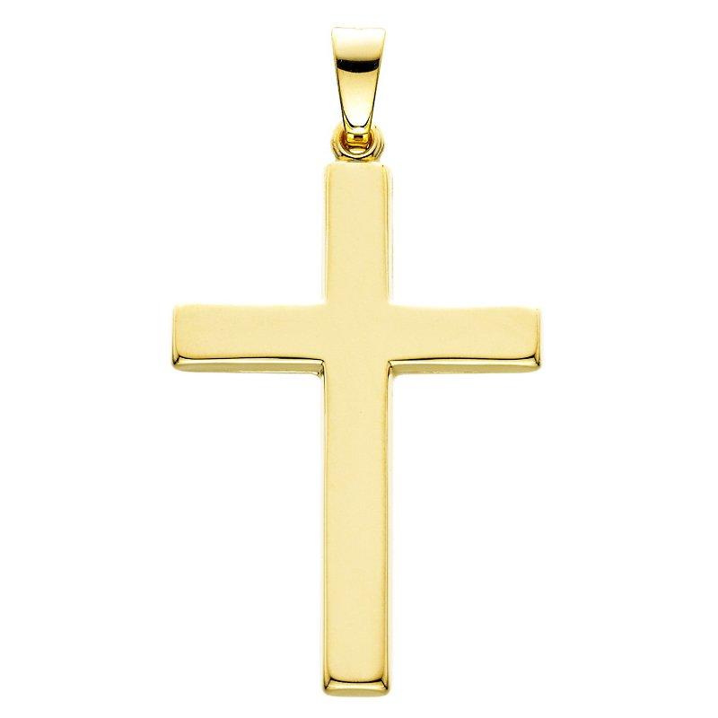 King's 14kt Yel Gold Polished Cross