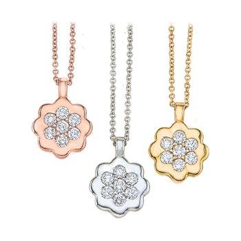 "Diamond ""Flower"" Necklace"