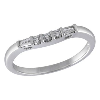 Plat Diamond Curved Band Baguettes & Round Cut   #050271