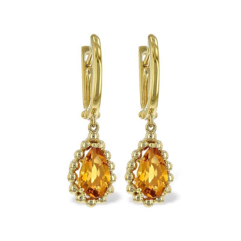 King's Citrine Dangle Earrings