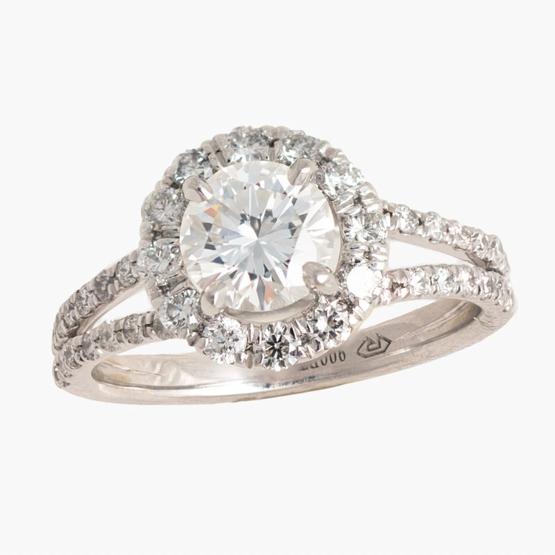 King's Bridal Diamond Halo Engagement Ring