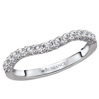 Platinum Curved Diamond Band .25tw  #050755