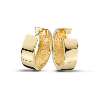 "Yellow Gold ""Huggie"" Hoop Earrings"