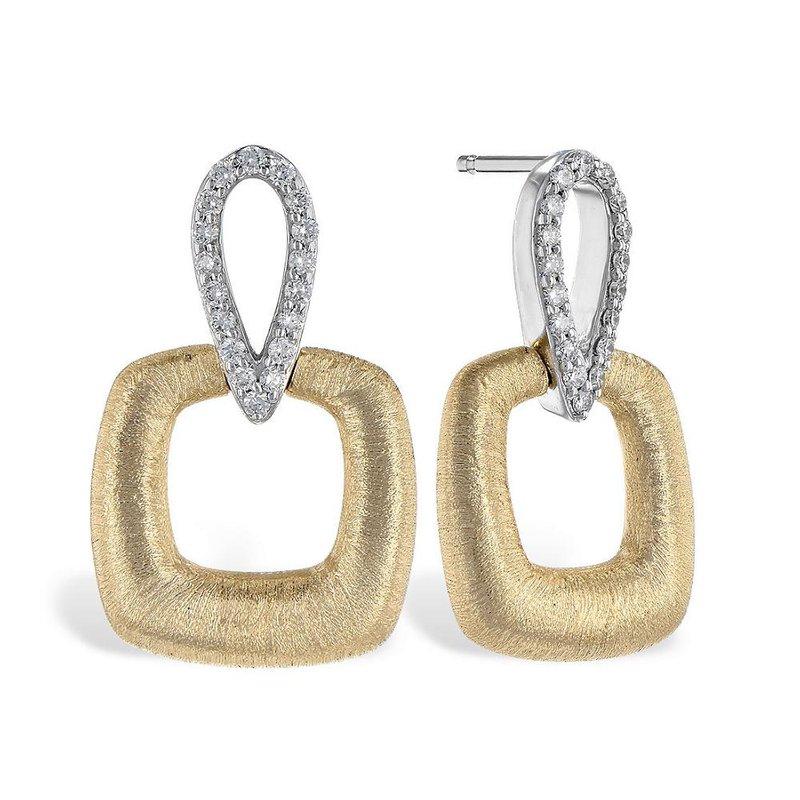 King's Diamond Dangle Earrings