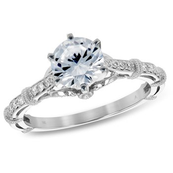 Diamond Engagement .76ct Ring