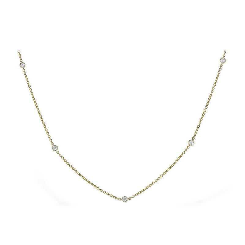 King's Diamond-by-the-Yard Necklace .25tw