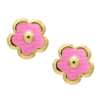 14kt Yel Flower Earrings